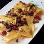 Pumpkin and Goat Cheese Ravioli